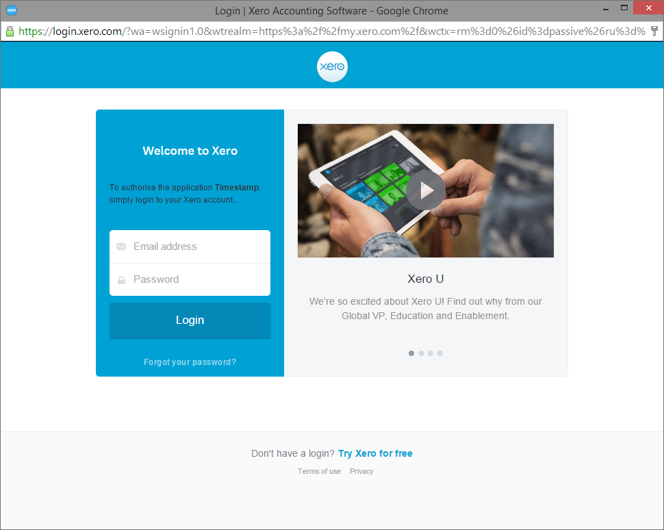 Enable Xero